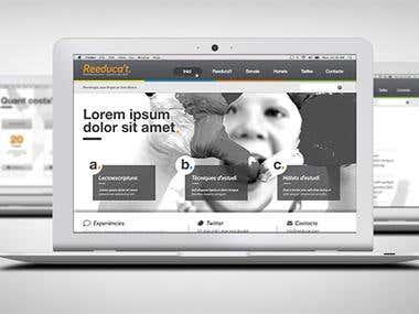 Reeducat web design