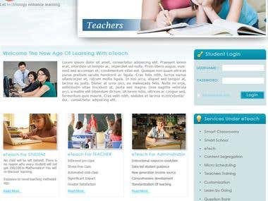 Website for E learning company
