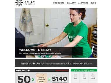 Custom T-Shirt Printing Website - Custom Wordpress, jQuery