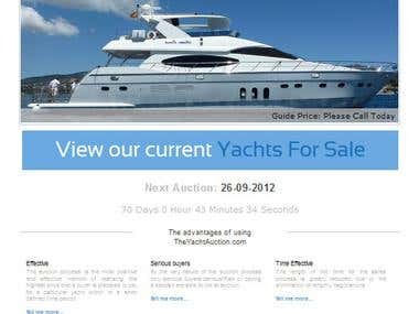 Online Yacht Auction Application