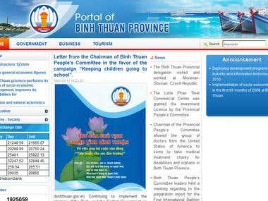 Portal of Binh Thuan Province