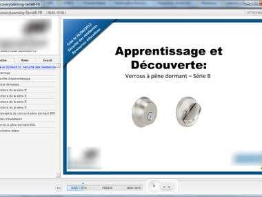 Articulate Elearning translation from English to French