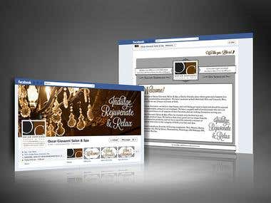 Oscar Giovanni Salon & Spa Social Media Branding