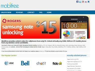Mobi Free to unlock iphone black berry mobiles
