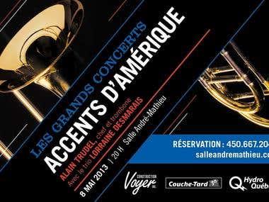 Conception affiche de concert/ Concert poster