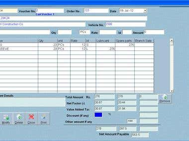 Accounting and Billing Software for Automobile Company