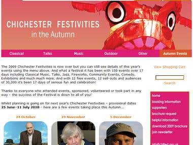 Chichester Festivities - Online Ticketing Portal Solution