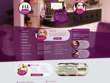 Indian women Web mockup