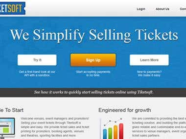 Ticket management site