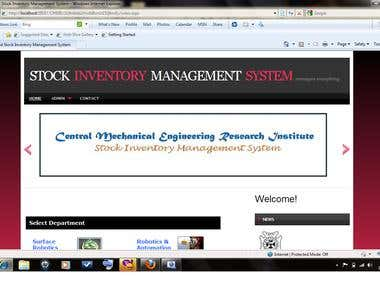 STOCK INVENTORY MANAGEMENT SYSTEM