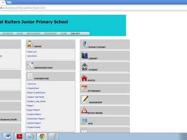 School ERP Website