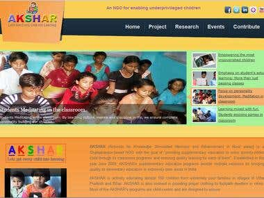 A NGO website