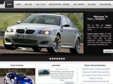 THEME INTEGRATION FOR AUTOMOBILE WEBSITE