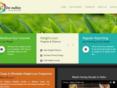 OmRadhey Health Center Website