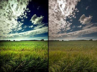 Landscape retouch