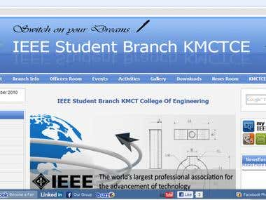 IEEE Student Branch KMCT Website