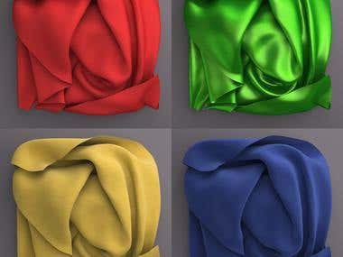 Cloth Texture in Maya