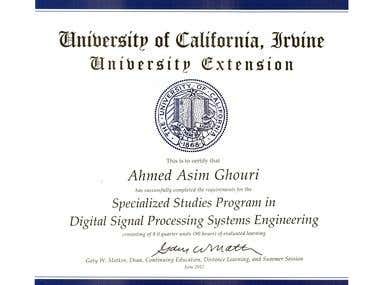 DSP Systems Engineering Certificate