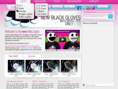 OMG Lights Website