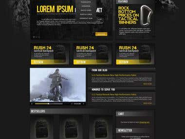 Merit Tactical - Website Design