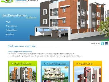 XHTML,FLASH- RealEstate Website