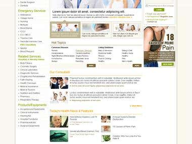 Web Layout (Doctors Portal)