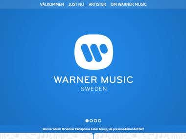Warner Music Sweden web page