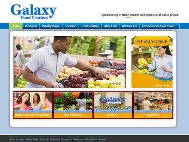 Galaxy Food Center's Website