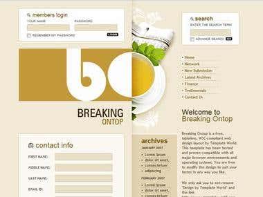 sample webside