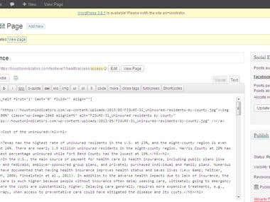 HTML Page Creation-Wordpress