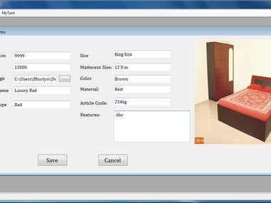 Fantasy Furniture Demo Label Printing Software