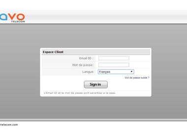 Telecom Company Client Portal Website