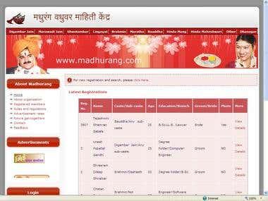 http://www.madhurang.com/ - Matrimonial Website