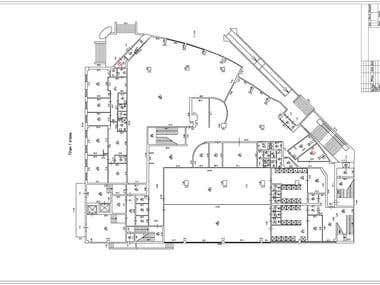 The plan of the building. Digitizing.