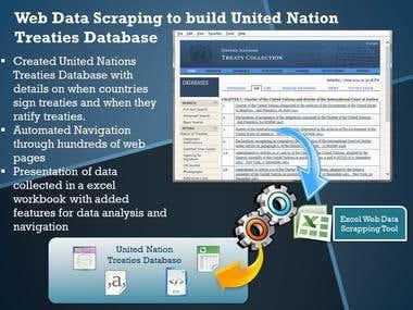 Web Data Scraping to build UN Treaties Database