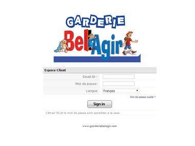 Daycare Company Portal for Parents