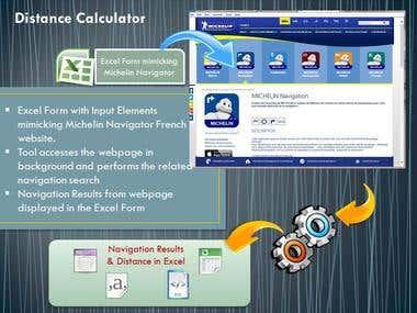 Distance Calculator using Navigation Tool