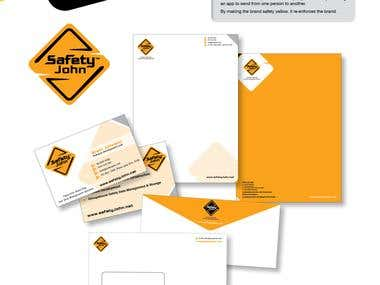 Branding design for Safety John app.