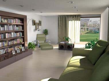 3d visualization - Maya - interior