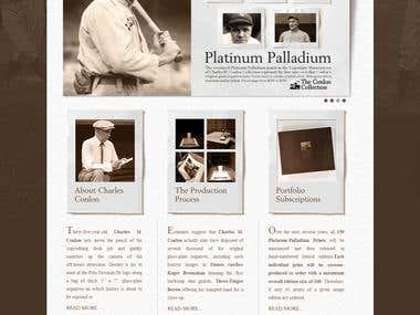 Charles Conlon photography archive store (Magento)