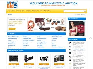 E commerce & Auction (WordPress)