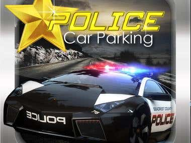icon for game app police car parking