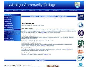Ivybridge Community College Website