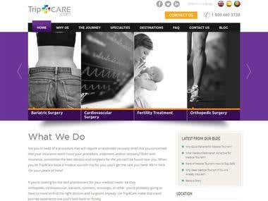 Web design and development - Trip 4 Care