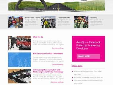 Photoshop Home Page Design Dwinq