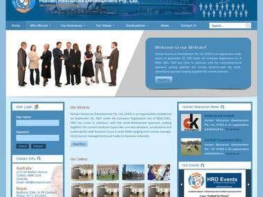 Design For the Human Resources Development Website