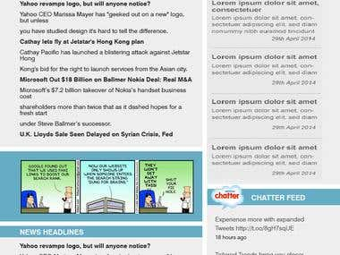 Mail chimp newsletter Html