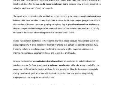 Loans Article !!