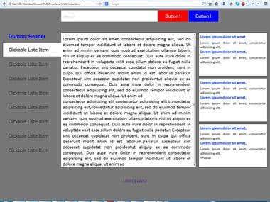 Responsive HTML document