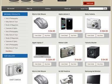 Design And Mock Up for Ecommerce Website